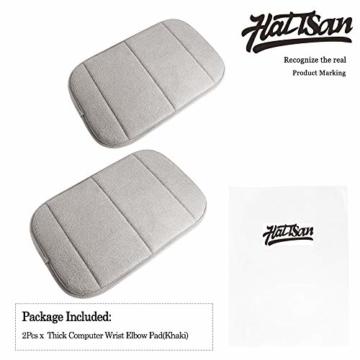 2 Stück Tragbar Handgelenkauflagen Handgelenks Pad, Ergonomische Handballenauflage Ellbogen Pad mit Memory-Schaum, Entlastung des Handgelenks Ellenbogen Pad (7,9 x 11,8 Zoll) (Khaki) - 3