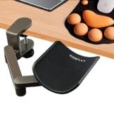 E-More Computer Arm-Stütze, verstellbar, für Handgelenk, ergonomisch, Aluminium-Legierung, am Schreibtisch, für professionelle Computer-Arbeiten, Grau - 1