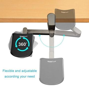 E-More Computer Arm-Stütze, verstellbar, für Handgelenk, ergonomisch, Aluminium-Legierung, am Schreibtisch, für professionelle Computer-Arbeiten, Grau - 5