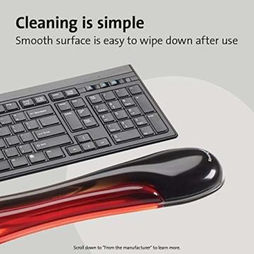 Kensington ergonomische Handgelenkauflage für Tastatur, bequeme Duo-Gel-Handgelenkstütze, geeignet für ganze Gaming-Tastaturen für Komfort am Computer, Laptop, Büro, PC, Zuhause, rot/schwarz, 62402 - 4