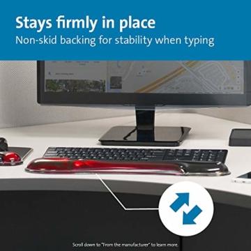 Kensington ergonomische Handgelenkauflage für Tastatur, bequeme Duo-Gel-Handgelenkstütze, geeignet für ganze Gaming-Tastaturen für Komfort am Computer, Laptop, Büro, PC, Zuhause, rot/schwarz, 62402 - 6