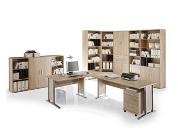 moebel-eins Office Line Winkelkombination Schreibtisch Ecktisch Tisch Bürotisch in Eiche Sonoma Dekor - 3