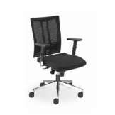 Nowy Styl Net Motion Bürostuhl mit 3D Armlehnen Schwarz ohne Kopfstütze - 1