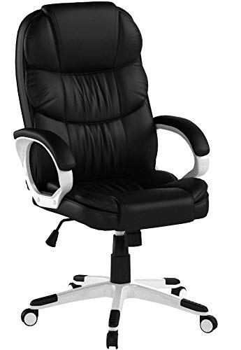 SONGMICS Bürostuhl Chefsessel Drehstuhl Computerstuhl SGS EN12520 Sitzhöhenverstellung office Stuhl Polsterung, OBG24B - 6