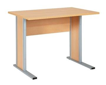 Büroeinrichtung Büromöbel Büro Buche hell Eckschreibtisch Bürocontainer Aktenschrank Regal Schreibtisch (Eckschreibtisch mit Container) - 5