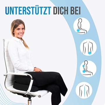 COMFORTIFY® Orthopädisches Sitzkissen Gel Infused I Wärmeregulierender Memory-Schaum I Perfekt für Bürostuhl, Auto & Co I Ergonomisches Steißbeinkissen für mehr Sitzkomfort - 2