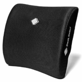 Desk Relief® Lendenkissen Lordosenstütze – Memory Foam Rückenstütze für Büro, Auto, Reisen - bei Schmerzen des unteren Rückens, Ischias - mit SitHealthy-App und Reisetasche - 1