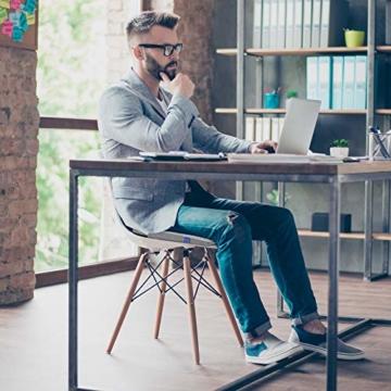 DYNMC you Bequemes Keilkissen - Sitzkissen Bürostuhl mit Anti-Rutsch Unterseite - Sitzkeil Ideal für Bürostuhl - Sitzkissen Auto (Hellgrau) - 2