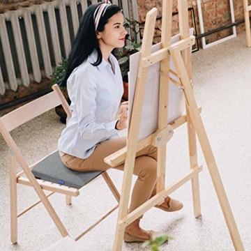 DYNMC you Bequemes Keilkissen - Sitzkissen Bürostuhl mit Anti-Rutsch Unterseite - Sitzkeil Ideal für Bürostuhl - Sitzkissen Auto (Hellgrau) - 3
