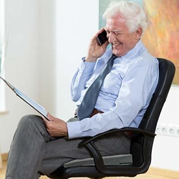 DYNMC you Bequemes Keilkissen - Sitzkissen Bürostuhl mit Anti-Rutsch Unterseite - Sitzkeil Ideal für Bürostuhl - Sitzkissen Auto (Hellgrau) - 6