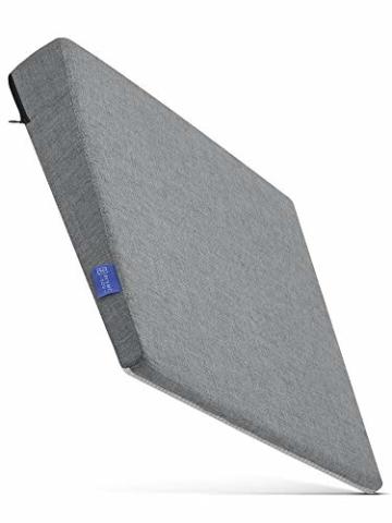 DYNMC you Bequemes Keilkissen - Sitzkissen Bürostuhl mit Anti-Rutsch Unterseite - Sitzkeil Ideal für Bürostuhl - Sitzkissen Auto (Hellgrau) - 8