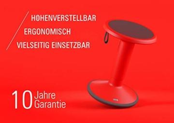 Interstuhl UPis1 - ergonomischer Sitzhocker mit Schwingeffekt – Premium Hocker höhenverstellbar und drehbar Made in Germany – Stehhocker/Drehhocker inkl. 10 Jahren Garantie - 2