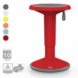 Interstuhl UPis1 - ergonomischer Sitzhocker mit Schwingeffekt – Premium Hocker höhenverstellbar und drehbar Made in Germany – Stehhocker/Drehhocker inkl. 10 Jahren Garantie - 1