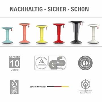 Interstuhl UPis1 - ergonomischer Sitzhocker mit Schwingeffekt – Premium Hocker höhenverstellbar und drehbar Made in Germany – Stehhocker/Drehhocker inkl. 10 Jahren Garantie - 3