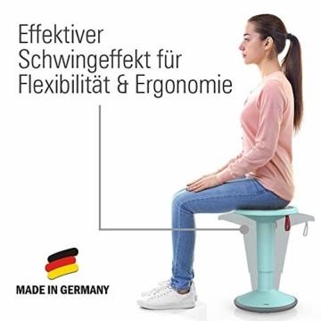 Interstuhl UPis1 - ergonomischer Sitzhocker mit Schwingeffekt – Premium Hocker höhenverstellbar und drehbar Made in Germany – Stehhocker/Drehhocker inkl. 10 Jahren Garantie - 4