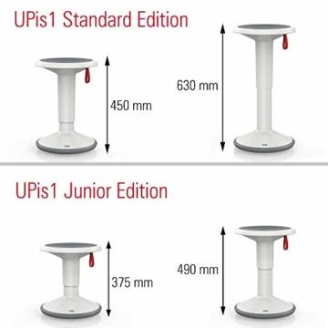 Interstuhl UPis1 - ergonomischer Sitzhocker mit Schwingeffekt – Premium Hocker höhenverstellbar und drehbar Made in Germany – Stehhocker/Drehhocker inkl. 10 Jahren Garantie - 6