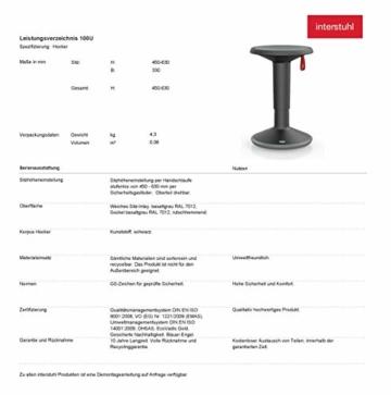 Interstuhl UPis1 - ergonomischer Sitzhocker mit Schwingeffekt – Premium Hocker höhenverstellbar und drehbar Made in Germany – Stehhocker/Drehhocker inkl. 10 Jahren Garantie - 8