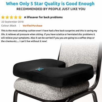 Orthopädisches Sitzkissen & Steißbein Kissen für Auto, Zuhause & Büro – ergonomisches Stuhl Sitz Polster mit hochwertigem Memory Schaum – Sitzauflage gegen Rückenschmerzen & Ischiasschmerzen - 3