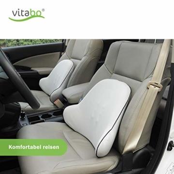 Vitabo Orthopädisches Rückenkissen - ergonomisches Lendenkissen I Lordosenstütze Rückenstütze für Büro Auto – Linderung von Rückenschmerzen (Grau) - 7