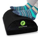 ErgoFoam Verstellbare Fußstütze Schreibtisch | Ergonomische Premium Samt Fußbank | Bequemste Fussbank der Welt | Fusshocker gegen Rücken & Knieschmerzen | Fußablage Schreibtisch - 1