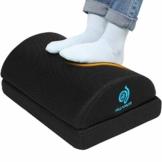 HUANUO Verstellbare Fußstütze mit 2 optionalen Fußkissen, Rutschfeste Fußablage für Büro, Zuhause, Reise - 1