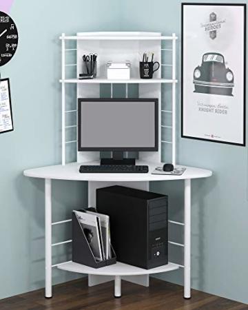SixBros. Schreibtisch in weiß, eckiger Bürotisch für Büro & Home Office, Eckschreibtisch, 113 x 65 cm B-1010/2076 - 2