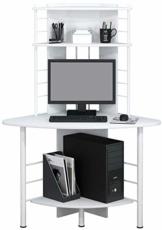 SixBros. Schreibtisch in weiß, eckiger Bürotisch für Büro & Home Office, Eckschreibtisch, 113 x 65 cm B-1010/2076 - 1