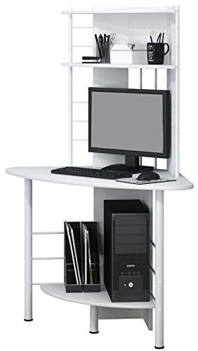 SixBros. Schreibtisch in weiß, eckiger Bürotisch für Büro & Home Office, Eckschreibtisch, 113 x 65 cm B-1010/2076 - 5