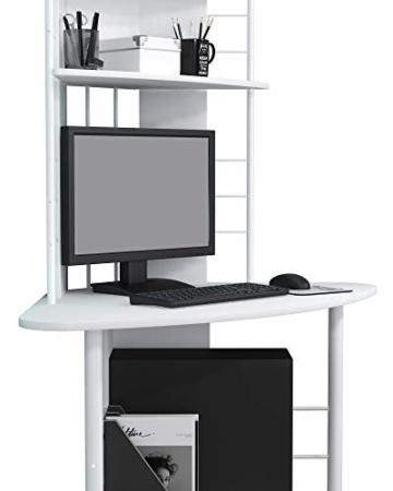 SixBros. Schreibtisch in weiß, eckiger Bürotisch für Büro & Home Office, Eckschreibtisch, 113 x 65 cm B-1010/2076 - 6