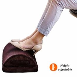 Urbo Ergonomische Fußstütze Schreibtisch– Fußablage Büro & Zuhause, Perfekt für müde Füße, Gelenkstütze, Schmerzreduzierung, Verbesserung der Haltung & Zirkulation, mindert Beinvenenthrombose - 1