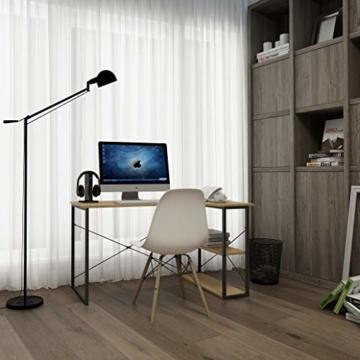 WOLTU TSB06hei Schreibtisch Computertisch Büromöbel PC Tisch Bürotisch Arbeitstisch aus Holz und Stahl, mit Ablage, ca. 120x74x71,5 cm - 2