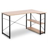 WOLTU TSB06hei Schreibtisch Computertisch Büromöbel PC Tisch Bürotisch Arbeitstisch aus Holz und Stahl, mit Ablage, ca. 120x74x71,5 cm - 1