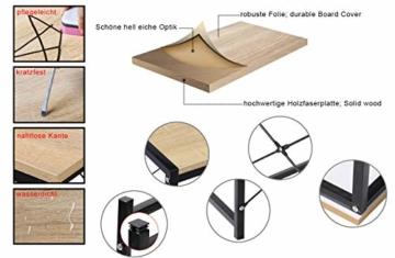 WOLTU TSB06hei Schreibtisch Computertisch Büromöbel PC Tisch Bürotisch Arbeitstisch aus Holz und Stahl, mit Ablage, ca. 120x74x71,5 cm - 3