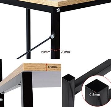 WOLTU TSB06hei Schreibtisch Computertisch Büromöbel PC Tisch Bürotisch Arbeitstisch aus Holz und Stahl, mit Ablage, ca. 120x74x71,5 cm - 4