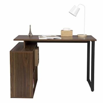 EUGAD 0079ZZ Schreibtische Computertisch PC-Tisch Bürotisch Arbeitstisch mit Ablagen Holz Dunkelbuche 116x75x80cm - 3