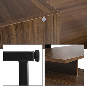 EUGAD 0079ZZ Schreibtische Computertisch PC-Tisch Bürotisch Arbeitstisch mit Ablagen Holz Dunkelbuche 116x75x80cm - 4
