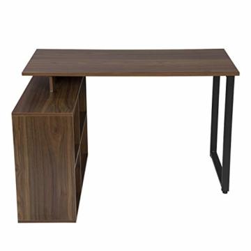 EUGAD 0079ZZ Schreibtische Computertisch PC-Tisch Bürotisch Arbeitstisch mit Ablagen Holz Dunkelbuche 116x75x80cm - 7