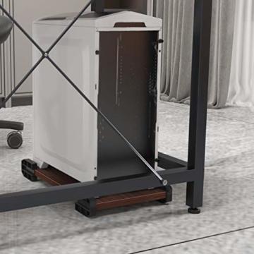 soges Eckschreibtisch L-Form Computertisch Winkelschreibtisch großer Gaming Schreibtisch Bürotisch Ecktisch Arbeitstisch PC Laptop Studie Tisch,150 cm + 150 cm,Walnuss - 6