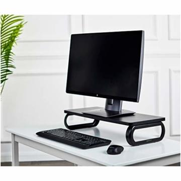 AmazonBasics - Holz-Monitorständer, Computer-Erhöhung, Schwarz - 3