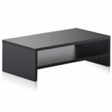 FITUEYES Monitorständer Bildschirmständer aus Holz für Monitor/Laptop/Fernseher 42,5x23,5x14cm Schwarz DT204201WB - 1
