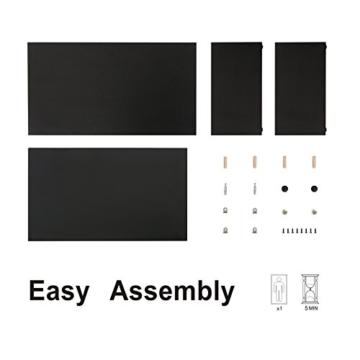 FITUEYES Monitorständer Bildschirmständer aus Holz für Monitor/Laptop/Fernseher 42,5x23,5x14cm Schwarz DT204201WB - 8