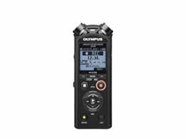 Olympus LS-P4 Hi-Res Audiorekorder mit TRESMIC 3-Mikrofonsystem, integriertem Bluetooth, direkt USB, 2-Mik-Rauschunterdrückung, Fade-in/Fade-out Funktionalität, Trimmen/Overdubbing Bearbeitung und 8GB - 1