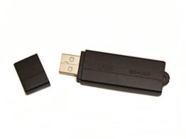 sellgal-tec ® MQ-U350DE V101 anthrazit - USB-Stick Diktiergerät mit Aufnahmeaktivierung durch Geräusche oder Daueraufnahme. Bis zu 25 Tage lang Standby, USB Stick 8GB - 1