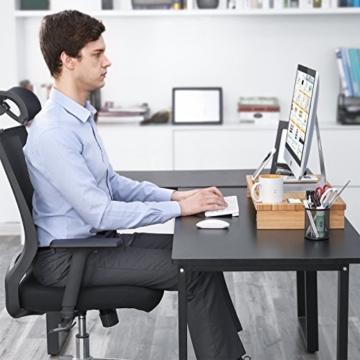 SONGMICS Monitorständer aus Bambus, PC-Ständer, Bildschirmerhöhung, für Computer, Laptop, Schreibtisch-Organizer, 60 x 30,2 x 8,5 cm, Natur LLD201 - 8