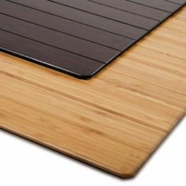Bodenschutzmatte Floordirekt ECO | aus natürlichem Bambus | Schutz für Teppich und Hartböden | verschiedene Größen | 90x120 cm Natur mit Lippe - 1