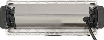 Brennenstuhl Indesk Power USB-Charger Tischsteckdosenleiste / Versenkbare Steckdose 3-fach (2 USB Ladebuchsen, 2m Kabel) silber/schwarz - 2