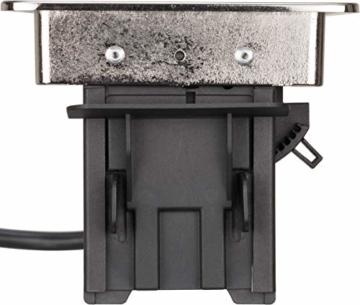 Brennenstuhl Indesk Power USB-Charger Tischsteckdosenleiste / Versenkbare Steckdose 3-fach (2 USB Ladebuchsen, 2m Kabel) silber/schwarz - 12