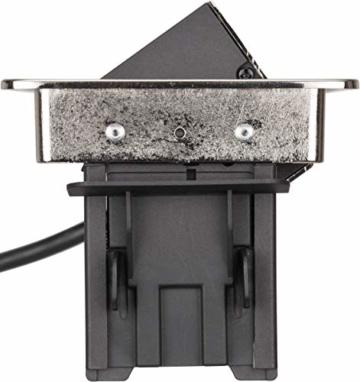Brennenstuhl Indesk Power USB-Charger Tischsteckdosenleiste / Versenkbare Steckdose 3-fach (2 USB Ladebuchsen, 2m Kabel) silber/schwarz - 9