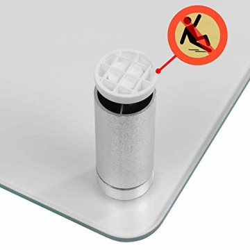 Duronic DM052-3 Bildschirmständer/Monitorständer/Notebookständer/TV Ständer/Bildschirmerhöhung/Laptop   Glas   transparent  70cm x 24cm   20kg Kapazität - 3