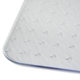 Extrastarke Bodenschutzmatte | transparente Schutzmatte für den Teppich unter Bürostühlen | auch für starke Beanspruchung | Stuhl-Unterlage/Bodenschutz [75x120 cm, Stärke 2,3 mm] - 1